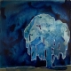 That Moonlit Willow acrylic painting by Rebecca Tucker