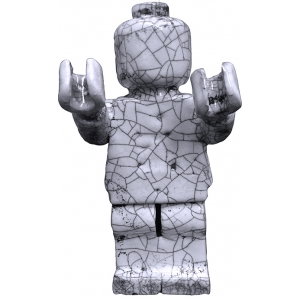 Small Ego Man Raku White