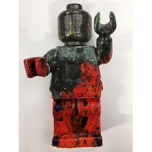 Small Ego Man Red Pewter