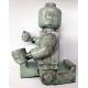 Ego Man Raku ceramic sculpture