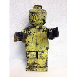 Small Ego Man Raku Yellow