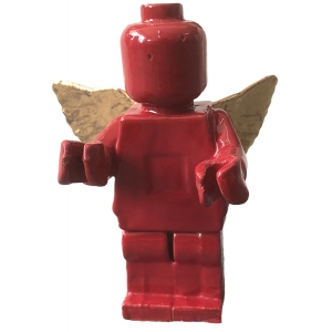 Small Ego Man Angel Gold Red