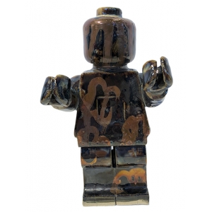 Small Ego Man Pewter Bronze Graffiti