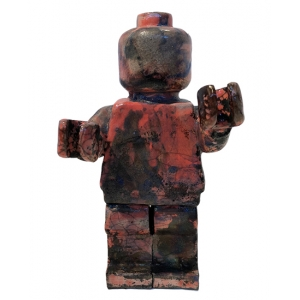 Small Ego Man Raku Red