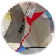 Viscosities 1 mixed media on aluminium by Ursula Kellett
