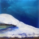 Glacier Blue acrylic painting by Laura Fishman