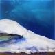 Glacier Blue acrylic on canvas