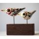 Two Bohemian Birds glasswork by Philip Vallentin