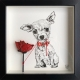 Chihuahua Red Tie Rose by Damilola Odusote