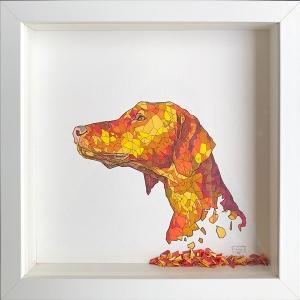 Geometric Dog Portrait Confetti