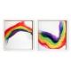 Follow The Rainbow acrylic on canvas by Laura Fishman