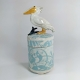 Pelican Blue Ceramic Netsuke Jar