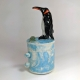 Penguin Ceramic Netsuke Jar