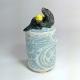 Seal Ceramic Netsuke Jar