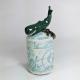 Whale Ceramic Netsuke Jar
