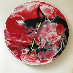 Clock Red Black