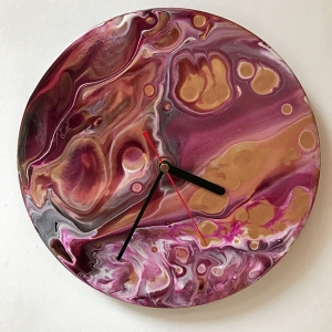 Clock Gold Wine
