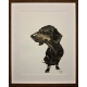 Large Coffee Dachshund drawing by Damilola Odusote