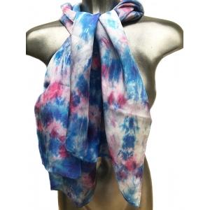 Scarf Blue Pink Flowery