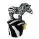 Zebra Zig Zag ceramics by Megan Adams