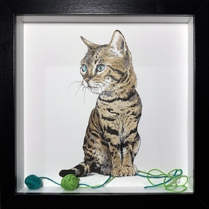 Kitty Cat And Green String