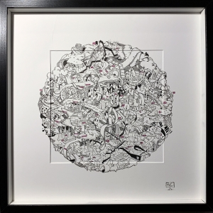 London Map Abstract drawing by Damilola Odusote
