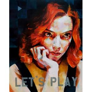 Let's Play oil painting by Sal Jones