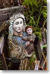 A Mary statue at the Hill of Crosses