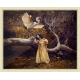 The Heron Maiden Ivory Frame