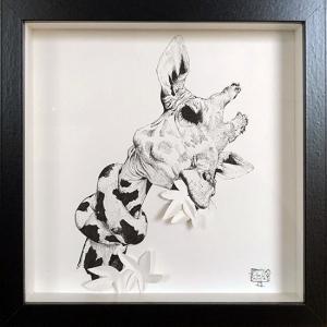 Giraffe Munching Leaves