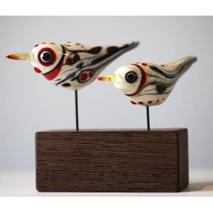 Two Bohemian Birds