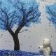 Blue Blossoms: Detail
