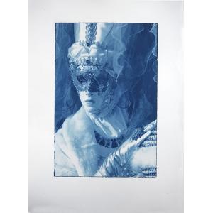 Carnavale di Venezia Blue Woman Cyan